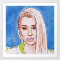 iggy Art Prints featuring Iggy by Kaitlin Polak