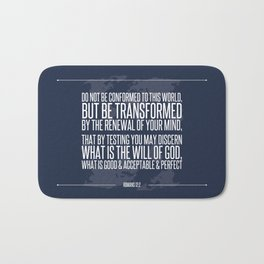 Romans 12:2 Bath Mat
