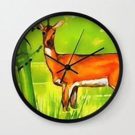 Bohor Reedbuck Wall Clock