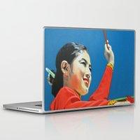 korean Laptop & iPad Skins featuring Korean Drummer Girl by Robert S. Lee Art