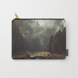 Foggy Forest Creek Carry-All Pouch
