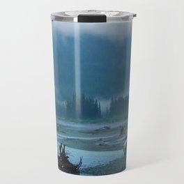Great Spirit Bear and Misty River Travel Mug