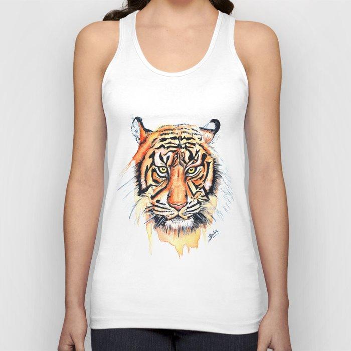 Tiger (Watercolor) Unisex Tank Top