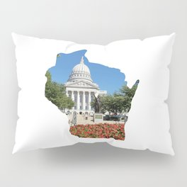 Beautiful Capitol Building in Wisconsin Pillow Sham