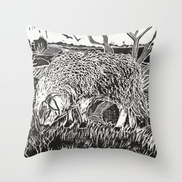 Dartmoor sheep Throw Pillow