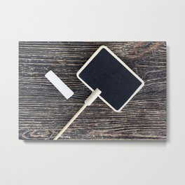 small wooden tablet Metal Print
