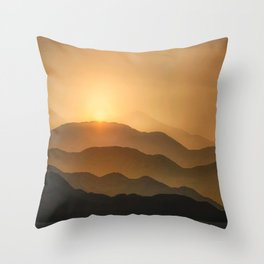 Sunrise in the mountains - beautiful morning - #Society6 #buyart Throw Pillow