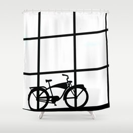 WHEELIN Shower Curtain