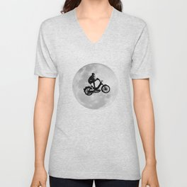 Funny Scooter Mofa Moped DDR Motorcycle Design Unisex V-Neck