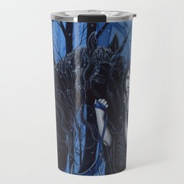 Midnight Travelers Gothic Fairy and Unicorn Travel Mug