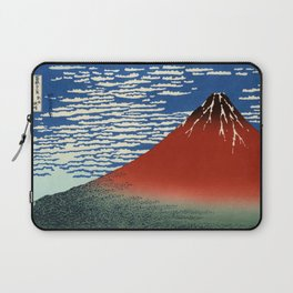 "Hokusai (1760–1849) ""Fuji, Mountains in clear Weather (South Wind, Clear Sky)(Red Fuji)"" Laptop Sleeve"