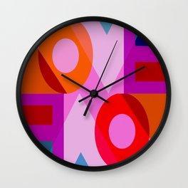 I love you valentine purple red Wall Clock