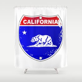 California Interstate Sign Shower Curtain