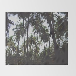 FOREST - PALM - TREES - NATURE - LANDSCAPE - PHOTOGRAPHY Throw Blanket