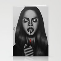 lana Stationery Cards featuring Lana  by Negrila Mircea Illustrations