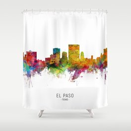 El Paso Texas Skyline Shower Curtain