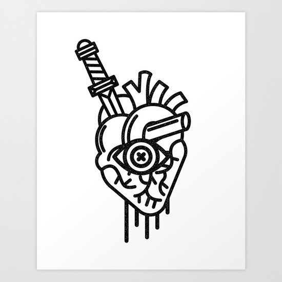 WOUNDED LOVER Art Print