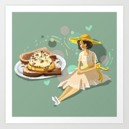 Ice Cream Sandwich With Pineapple and Coconut Art Print