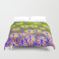 rare Duvet Covers featuring Rare Jungle, Rainbow by Lindel Caine