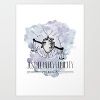 Justice, Mercy, Humility. Art Print
