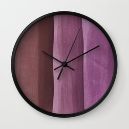 Pink Gradient on Wood Wall Clock