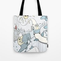 milk Tote Bags featuring Milk by Anna Savva