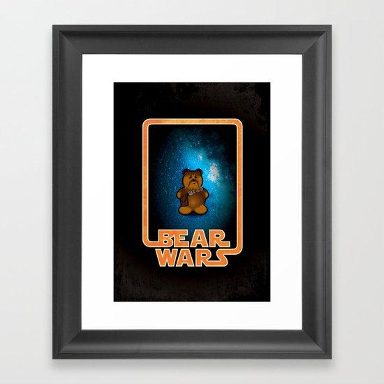 Bear Wars - Chompy Framed Art Print