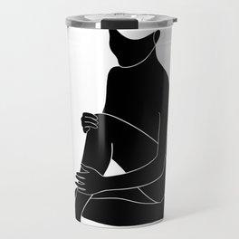 minimal nude 1 Travel Mug