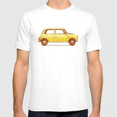 Famous Car #1 - Mini Cooper SMALL White Mens Fitted Tee