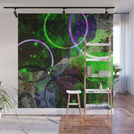 Other Dimensions - Abstract, geometric, textured, space themed artwork Wall Mural