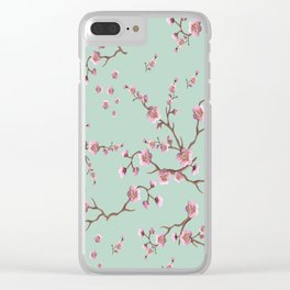 SAKURA  - PRETTY MINT Clear iPhone Case