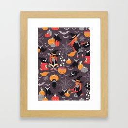 Enchanted Vintage Halloween Spell Framed Art Print