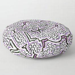 Song to Support Good Health - Traditional Shipibo Art - Indigenous Ayahuasca Patterns Floor Pillow