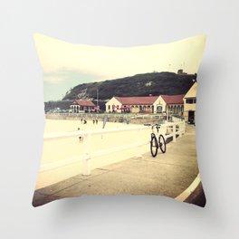 Nobby's Beach Throw Pillow