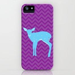 A deer - A Very Blue Deer iPhone Case