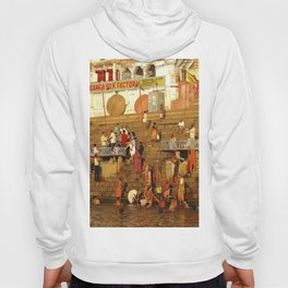Bathing by the River Ganges Hoody
