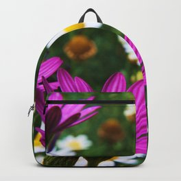 Flowers and the little Honey bee Backpack