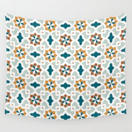Geometric Pattern, oriental style (nature color set)  traditional morocco tile pattern Wall Tapestry