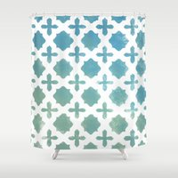 monogram Shower Curtains featuring Monogram by Chilligraphy