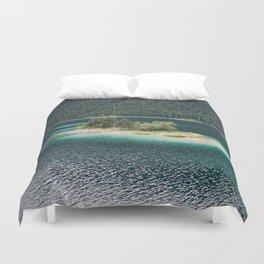 Eibsee Blue Mountain Lake Island Duvet Cover