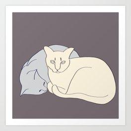 Snuggles Art Print