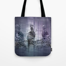 A perfect day between peacock! Tote Bag
