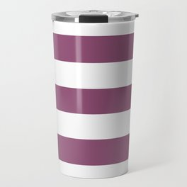 Sugar Plum - solid color - white stripes pattern Travel Mug