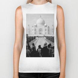 Taj Mahal with people Biker Tank