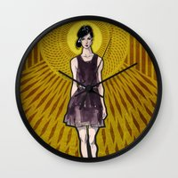 dress Wall Clocks featuring Dress by Filip Postolache