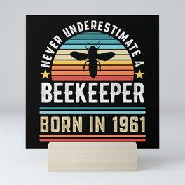 Beekeeper born 1961 60th Birthday Gift Beekeeping Mini Art Print