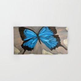 Ulysses Blue Butterfly Hand & Bath Towel