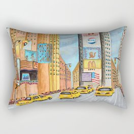 One Times Square Rectangular Pillow