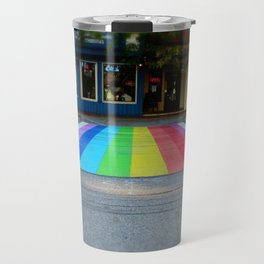 Rainbow Crosswalk Travel Mug