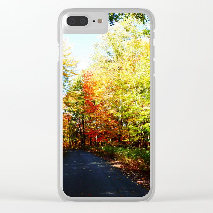 Into the Fall Forest Clear iPhone Case